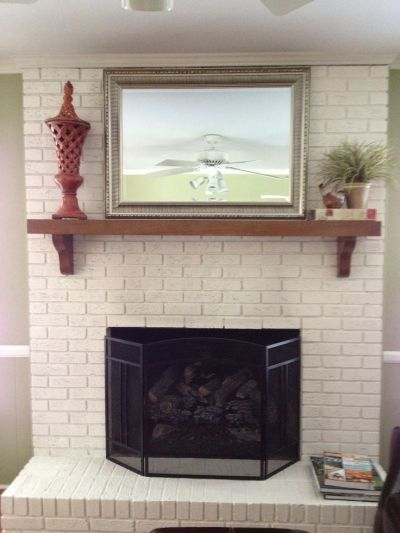 18 best images about White Brick Fireplace on Pinterest ...