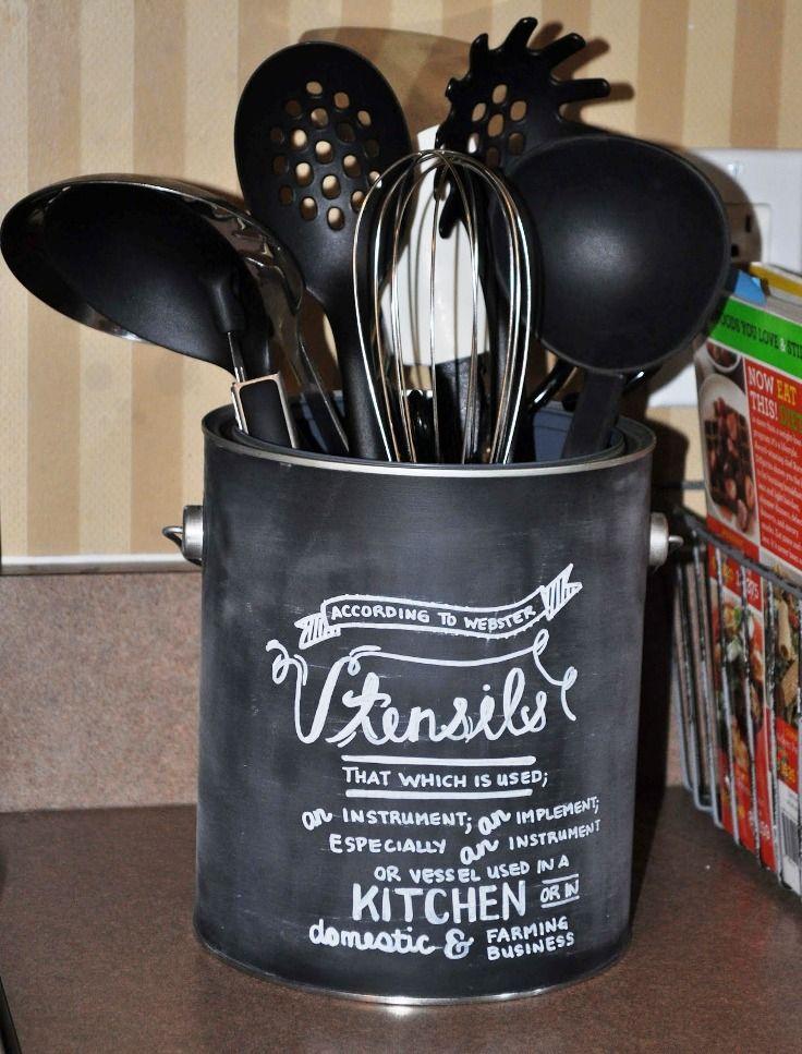 17 Best Ideas About Kitchen Utensil Holder On Pinterest