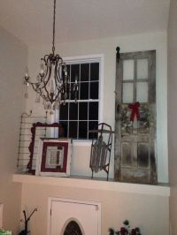 Rustic Christmas ledge decor-just love decorating with old ...