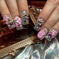 Nails Designs With Diamonds 3d 2 ImagesKavanahshabbat