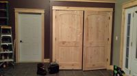 Closet Doors, Knotty Pine Arched Ridged Doors - from Lowes ...