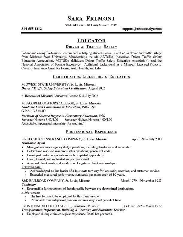 community college teacher resume sample