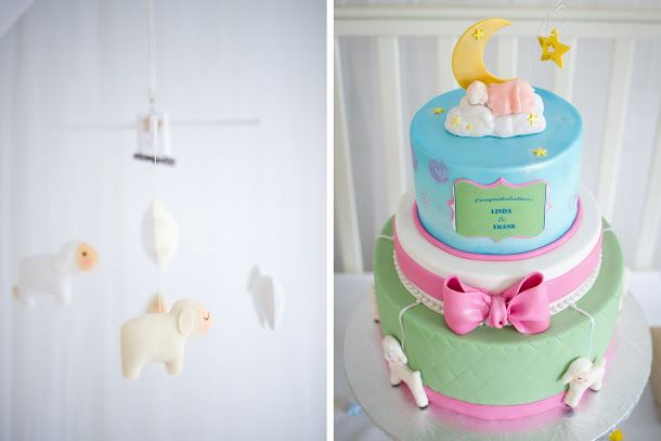 Handmade By Gifts Define A Counting Sheep Mobile Was Suspended Above The Three Tier Banana And - Crib Mobile Definition