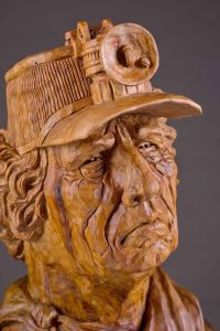 'Miner' wood carving by Vic Hood, Franklin, TN | Wood ...