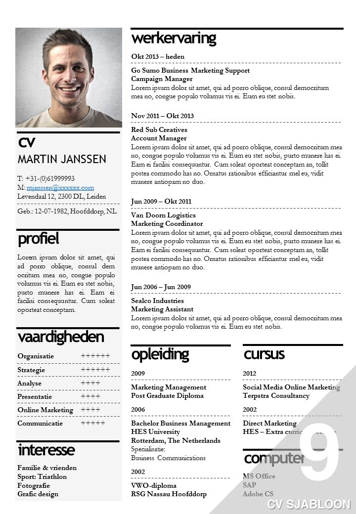 office cv sjabloon