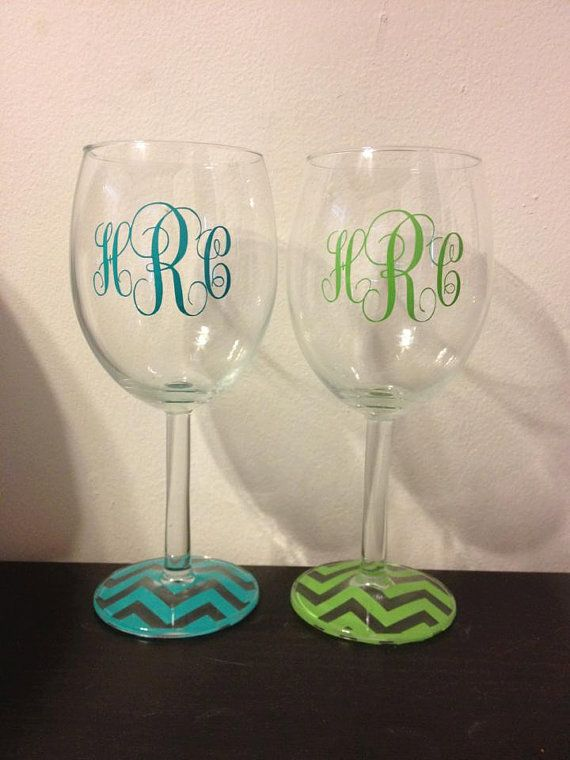 monogrammed acrylic wine glasses