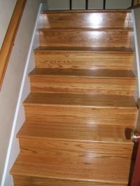 golden pecan stain on stairs | Floors and Painting ...