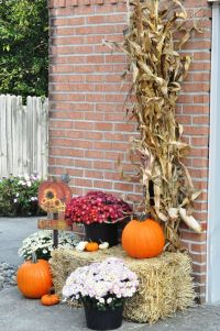 fall outdoor decorations with hay - 28 images - fall ...
