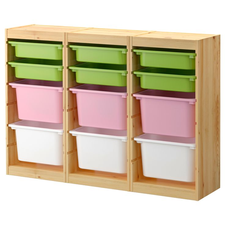 Toy Organizer Ikea Playroom Closet. Trofast Storage Combination With Boxes
