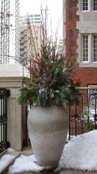 Winter | Holiday | Christmas | Decor | Decorations | Urn ...