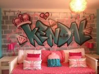 client private children / teen / Kids Bedroom Graffiti ...