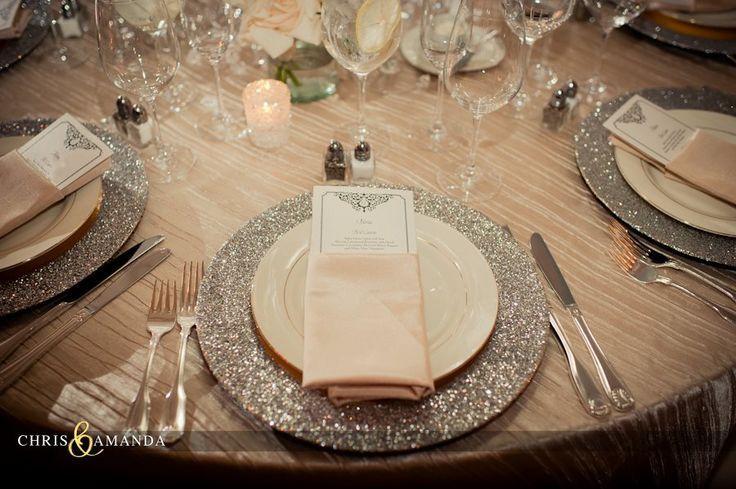 glitter table setting