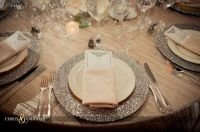 glitter table setting