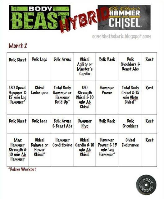 Body Beast Bulk Back Workout Sheet EOUA Blog - beast workout sheet