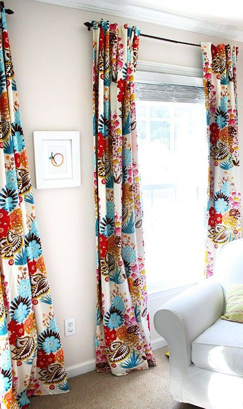 Bright Turquoise Wallpaper For Girls Room Boho Curtains W Blackout Lining 2 Panels Of 40wx84l