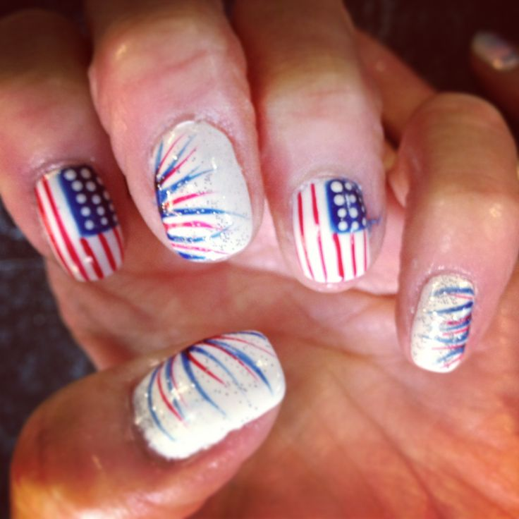 17 Best Images About Fourth Of July Toe Nails On