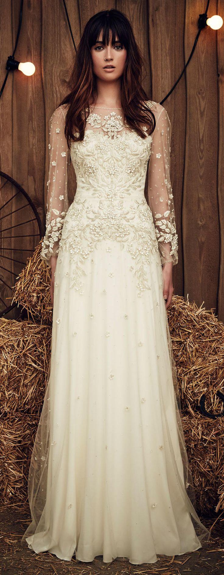 jenny packham wedding dresses ivory wedding dresses Celadon Green Hits the Runway at Jenny Packham s Gypsy Inspired Spring Show Jenny Packham BridalJenny Packham Wedding DressesIvory