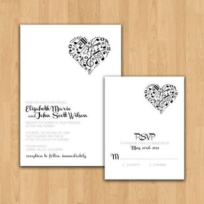 25+ best ideas about Music Wedding Invitations on ...