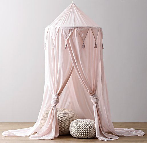 Himmelbett Vintage Pretty Pink Teepee + Pink Canopy | Rh Baby And Child