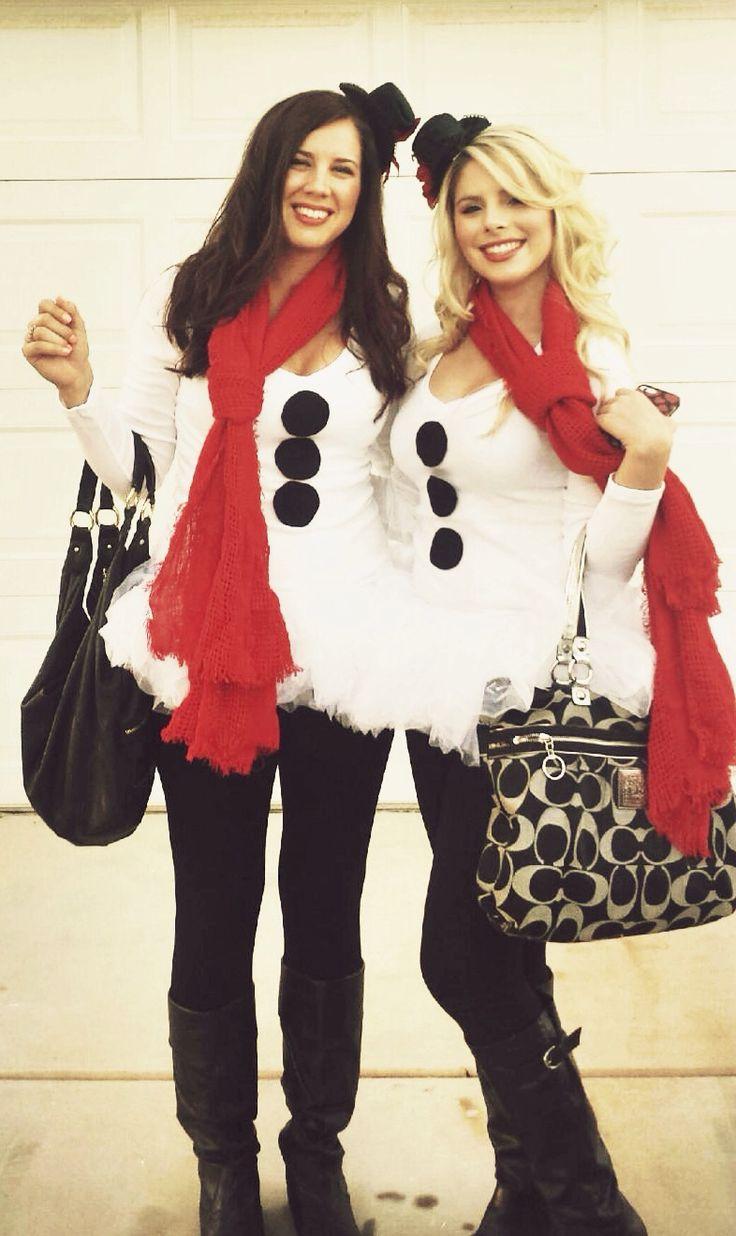 Homemade snowman costume how to make the tulle skirt halloween costume jingle bell run