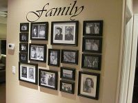 Family Picture Arrangements...maybe down hallway ...