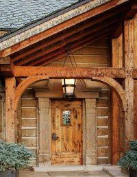 Log home front door | Dream Home | Pinterest | Front doors ...