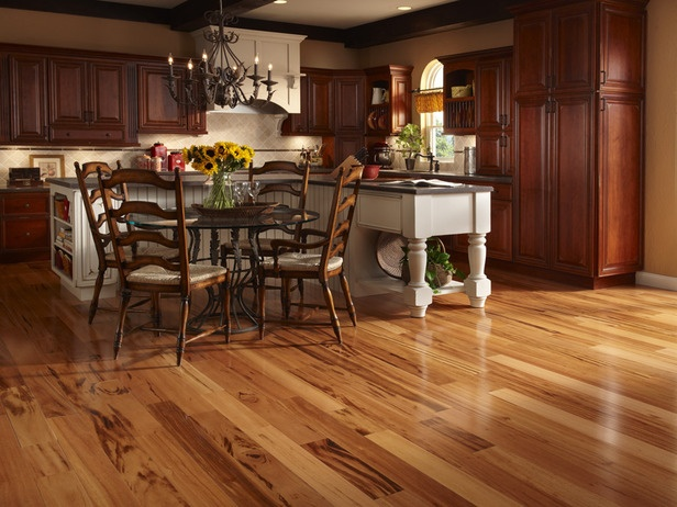 Koa Wood Kitchen Cabinets Love The Brazilian Koa Floor. | For The Home | Pinterest