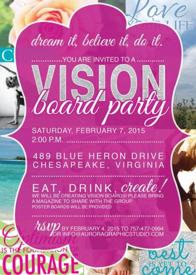 Vision Board Party Invitation | Events, Resolutions and Party invitations