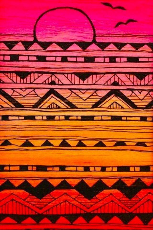 Cute Ipod Wallpapers For Walls Iphone Wallpaper Aztec Tribal Tjn Iphone Walls 1