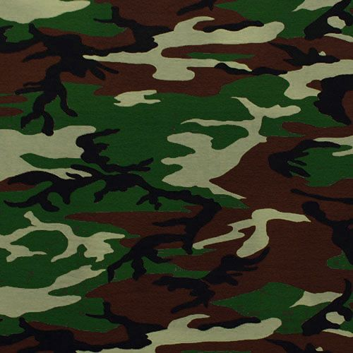 Pink Feathers Falling Wallpaper Army Camo Cotton Spandex Knit Fabric Army Green Brown