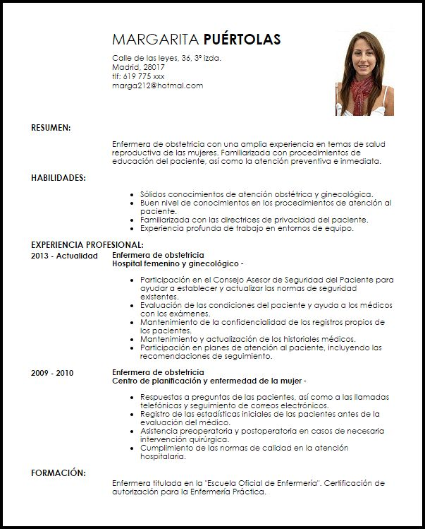 Curriculum Vitae Cover Letters The Balance Modelo Curriculum Vitae Enfermera De Obstetricia