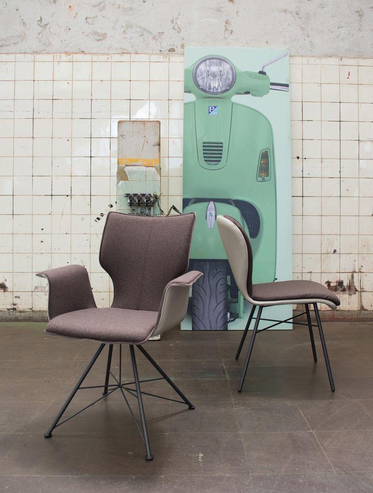 Außergewöhnlich ARMLEHNSTUHL Stahl Rindleder Anthrazit, Hellbraun, Taupe Oder   Inspiration  Fur Innovatives Stuhl Design