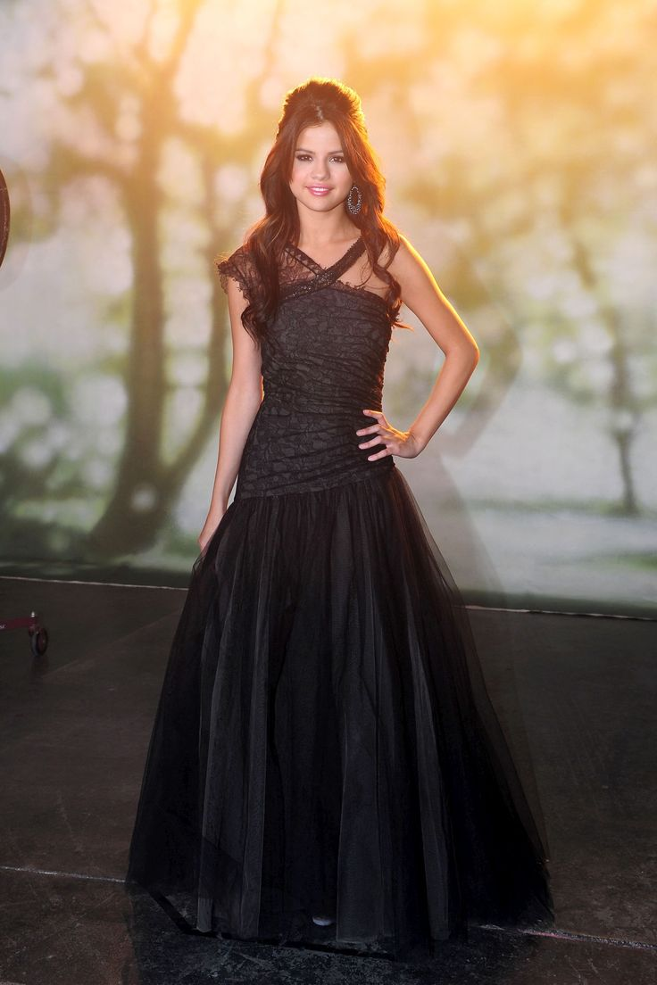 Find this pin and more on watch out here comes the paparazzi selena gomez black lace prom gown formal dress who says