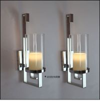Candle sconces, Chrome finish and Pillar candles on Pinterest