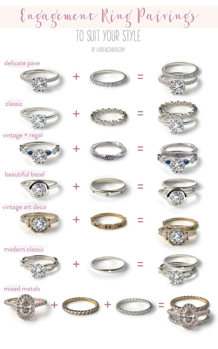 wedding ring wedding band prices 7 Different Engagement Wedding Band Pairings Find your perfect ring pairing with Team LC