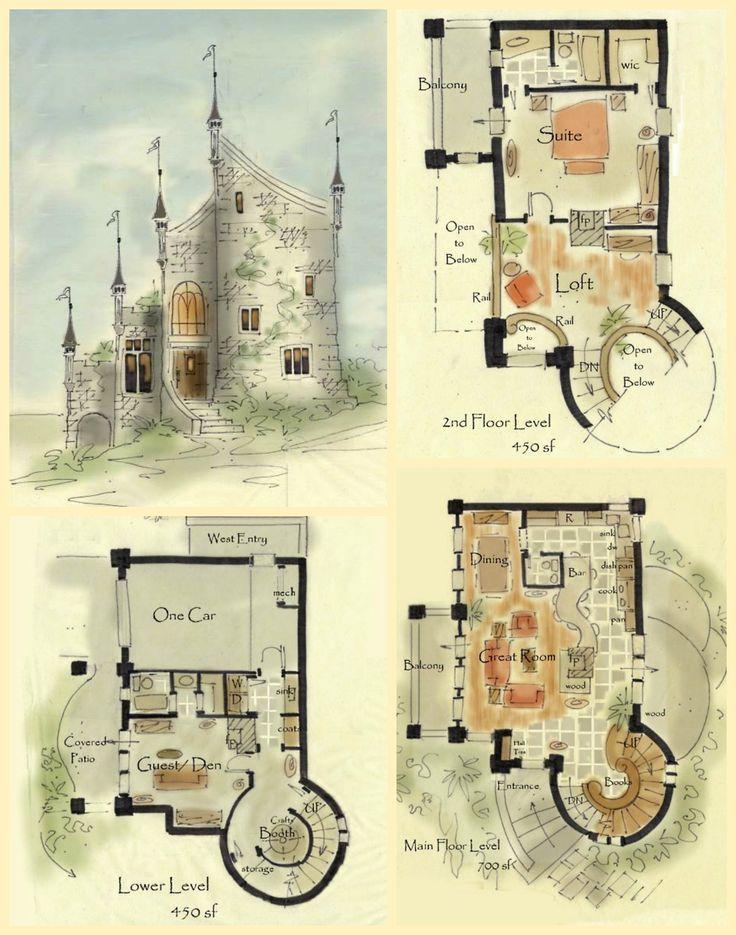 25+ Best Ideas about Castle House Plans on Pinterest
