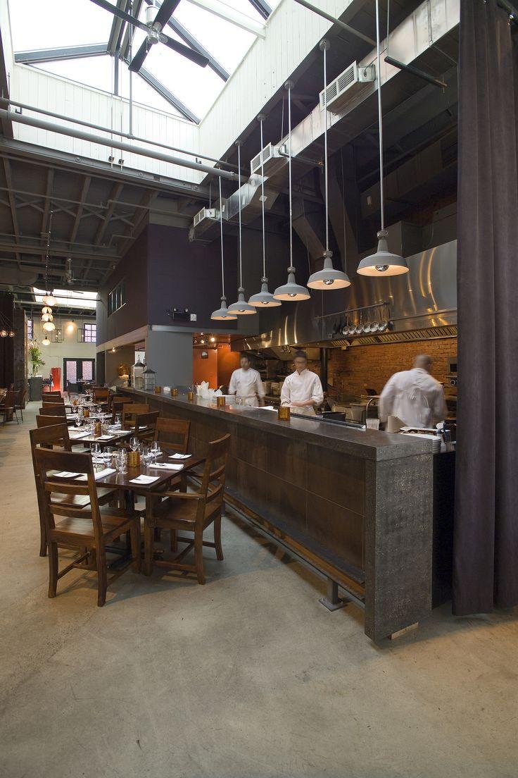 open kitchen restaurant open kitchen design LEMAYMICHAUD Le LocaL Architecture Design Hospitality Eatery Restaurant Dining Restaurant Design Open KitchenBarn Light