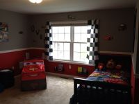 Owen's Cars themed room Ikea spice racks painted black for ...