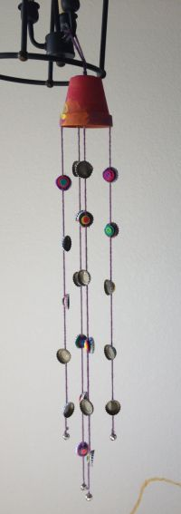 Homemade wind chime, easy fun project to do with kids