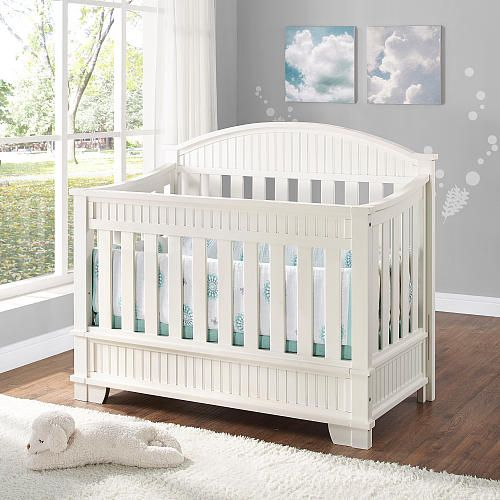 Bertini Saybrook Convertible 4 In 1 Crib In White Finish