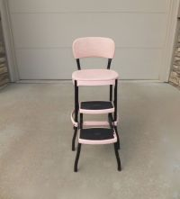 PINK Cosco Kitchen Chair Step Stool,Metal Chair,Metal Step ...