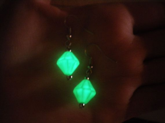 Lana Lang Kryptonite Earrings Glow in the Dark by