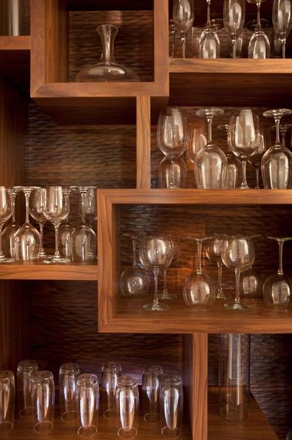wine glass display cabinet