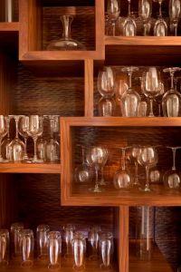wine glass display cabinet