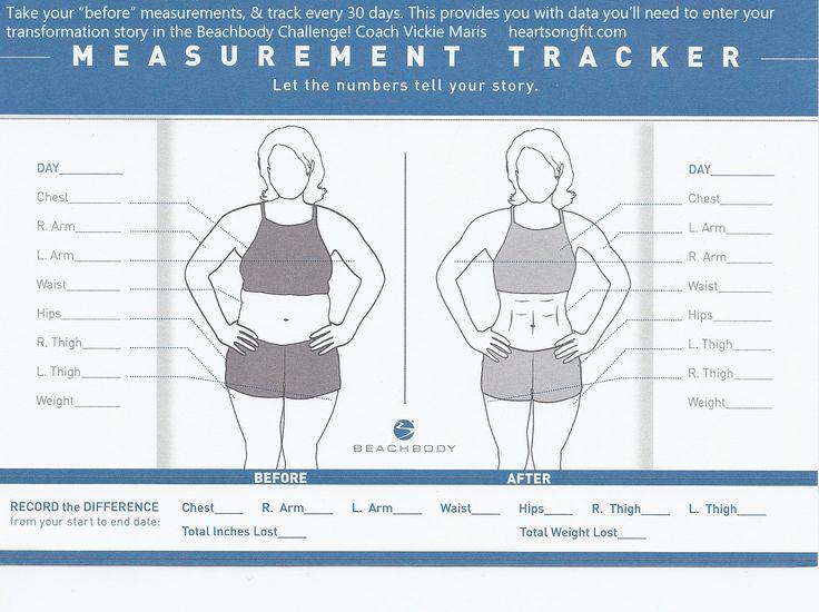 beachbody body measurement chart