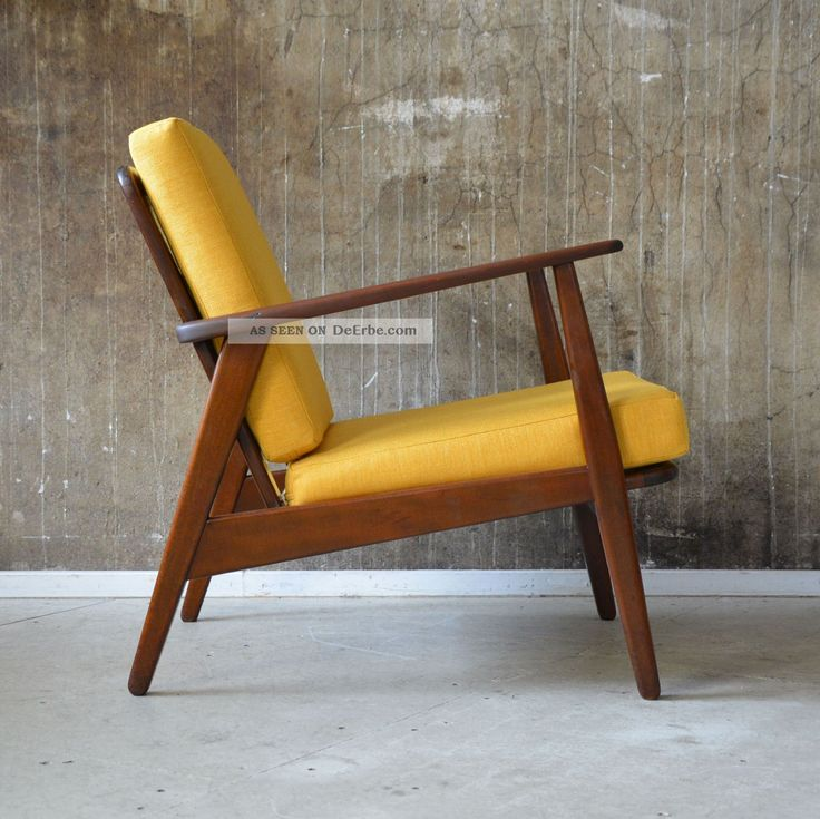Designer Sessel Holz Leder 60er Teak Sessel Danish Design 60s Easy Chair Vintage