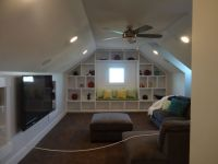 built in shelves and cabinets in a bonus room - Google ...