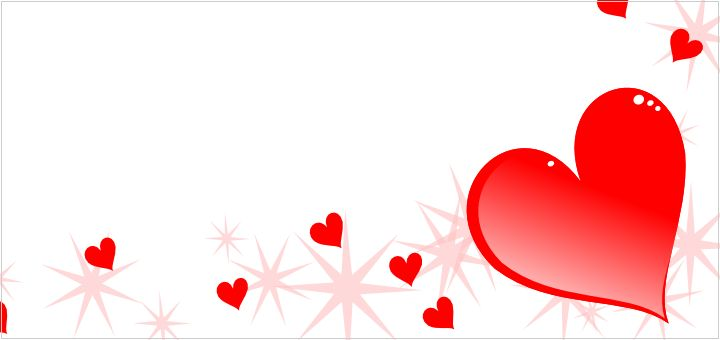 valentines day page borders