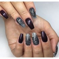 Glitter Ombr Coffin Nails | MargaritasNailz | Pinterest ...