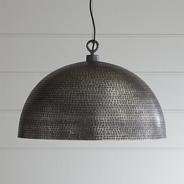 Large Metal Dome Pendant Light